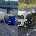 Chaos as 18,000 litres of chemical waste spills onto M6 following tanker crash