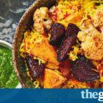 Meera Sodha's vegan recipe for festive pilau with beetroot, cauliflower and coriander chutney