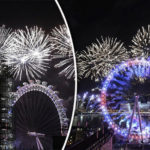 Happy New Year! Stunning London Eye fireworks welcomes Britain into 2018