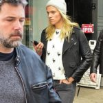 Ben Affleck sports salt and pepper stubble and leather jacket  in NYC