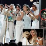 Lady Gaga leadsstars wearing white roses at the Grammy Awards