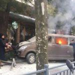 'Flaming van' mounts Shanghai pavement and ploughs into pedestrians