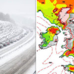 UK WEATHER NEWS: Foot of snow and bone chilling sleet bring Monday morning chaos to UK