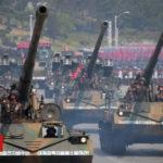 N Korea military show on Olympic eve