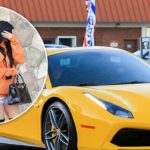 Kylie Jenner and Tyga spotted in brand new yellow Ferrari convertible