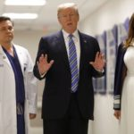 Trump praises Florida emergency services as he visits mass shooting survivors