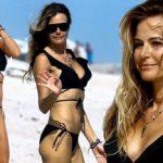 Kelly Bensimon, 48, soaks up some Miami sun in racy wrap bikini