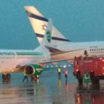 WATCH: Plane collision at Ben-Gurion Airport in Israel with passengers evacuated