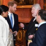 Prince Harry jokes about baby number two with Falklands veteran Simon Weston