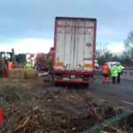 Man in hospital after lorry overturns in Conwy