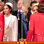 Meghan Markle wears Victoria Beckham dress for second event as Kate Middleton stuns in red