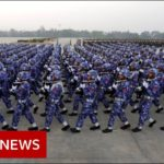 Rare look at Myanmar military celebrations