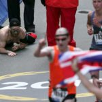 Marine running Boston Marathon for fallen comrades crawls across finish line