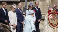 The Royal Family Attend The Easter Sunday Service At St George's Chapel In Windsor