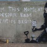 Suspected Banksy mural appears on wall at Marble Arch Extinction Rebellion protest