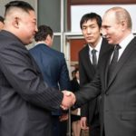 Bizarre macho HANDSHAKE BATTLE between Putin and Kim Jong-Un – but WHO WON?