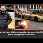 Instagram star's Porsche vandalised weeks after Lamborghini went up in flames