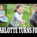 A perfect birthday princess! 'Confident and playful' Charlotte plays outside and scales a fence in a