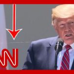 This caught the eye of social media users during Trump's press conference