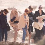 Angelina Jolie Hits The Beach With 4 Of Her Children During Break From Filming 'The Eternals'
