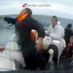 Italian coastguard video shows harrowing migrant rescue