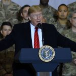 President Trump in first visit to Afghanistan as Taliban peace talks restart