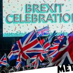 Two people arrested at Brexit celebrations as hundreds party in London