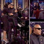 'My Michelle amour': Stevie Wonder serenades Michelle Obama
