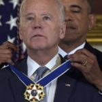Tearful Joe Biden awarded freedom medal by Obama