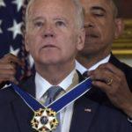 Tearful Joe Biden awarded freedom medal by Obama