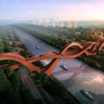 China's new topsy-turvy bridge actually has three bridges woven into one