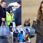 Brady and Gisele arrive in Boston after his historic Super Bowl win
