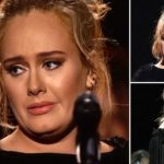 Tearful Adele stops Grammy performance mid-song