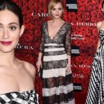 Emmy Rossum and Christina Ricci stun in black and white gowns at event