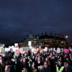 Anti-Trump protesters march across Britain