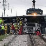 Four killed, more than 30 hurt after train hits charter bus in Biloxi