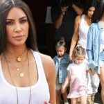Kim and Kourtney Kardashian look casual for girls day out