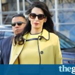 Amal Clooney's maternity wardrobe: more important than genocide?