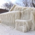 NY lake house encased in ice after cold spell