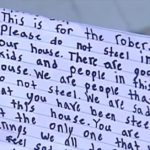 Florida girl writes letter to burglar who targeted her house