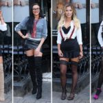 Geordie Shore newbies transform into naughty school girls in suspenders and fishnets as they reunite with their co-stars in London
