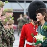 Duke and Duchess of Cambridge present shamrocks to the Irish Guards for St Patrick's Day