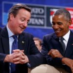 David Cameron jokes he doesn't have to hear Donald Trump 'wiretaps' anymore