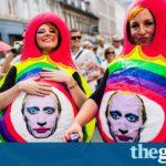 Russia bans picture of Vladimir Putin in drag