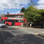 Bus becomes stuck after crashing into south London front garden