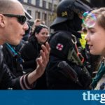 Girl Scout confronts neo-Nazi at Czech rally