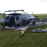 Man fights for life after helicopter crash
