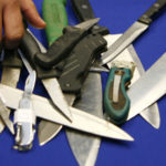 Swords, knives and axes confiscated from pupils