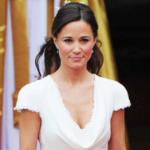 Kate Middleton fusses over sister Pippa's wedding dress outside church