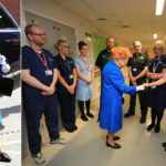 The Queen visits victims at Royal Manchester Children's Hospital